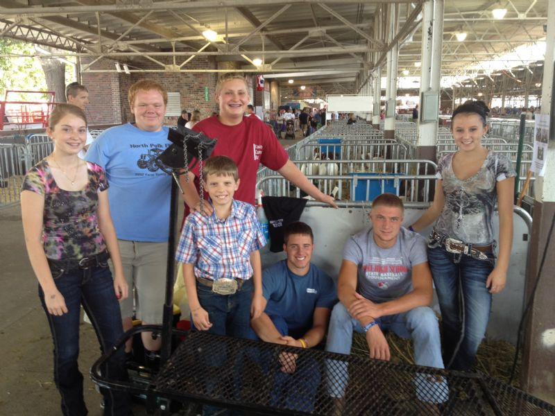 Allison with several of her fellow North Polk FFA members